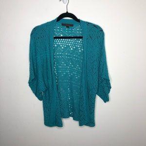 🦋3/$15 Fever Turquoise Cardigan Size Large